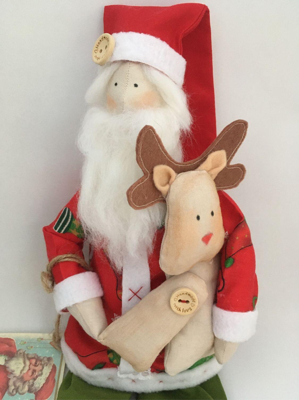«Санта с оленёнком», Куклы Тильда, Москва,  Фото №1