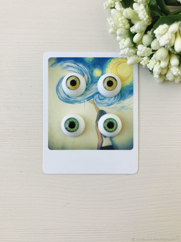 Set of eyes for dolls 14 mm (7,5 mm iris), Eyes and eyelashes, Solnechnogorsk,  Фото №1