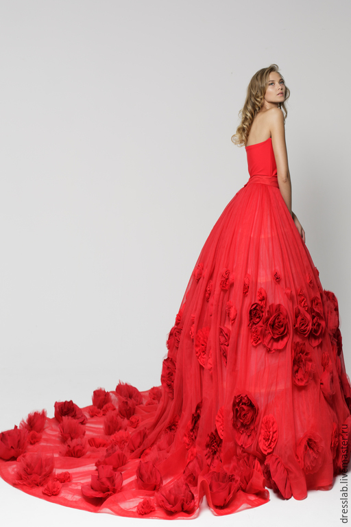 """Платья ручной работы. Ярмарка Мастеров - ручная работа. Купить Платье-трансформер """"Rose"""". Handmade. Ярко-красный, красное платье"""