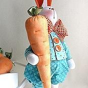 Куклы и игрушки ручной работы. Ярмарка Мастеров - ручная работа Кролик Петруччио - морковные уши. Handmade.