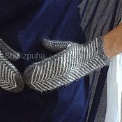 Аксессуары handmade. Livemaster - original item 384, Mittens, woolen knitted herringbone. Handmade.