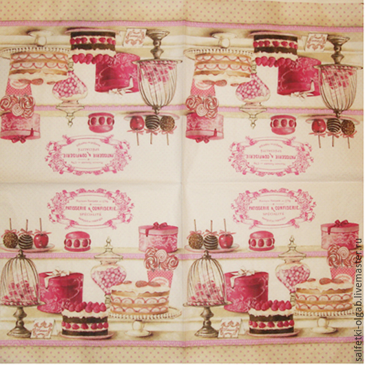Декупаж и роспись ручной работы. Ярмарка Мастеров - ручная работа. Купить Салфетка  № 231. Handmade. Салфетка для декупажа, кофе