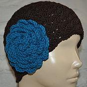 Аксессуары ручной работы. Ярмарка Мастеров - ручная работа Вязанная женская шапка из кашемира с цветком. Handmade.