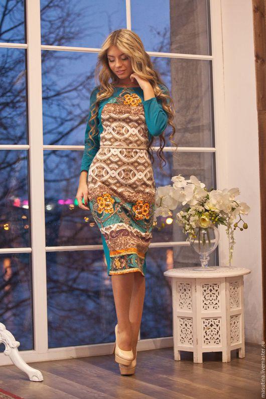 """Платья ручной работы. Ярмарка Мастеров - ручная работа. Купить Платье """"Arabica"""". Handmade. Комбинированный, платье на каждый день"""