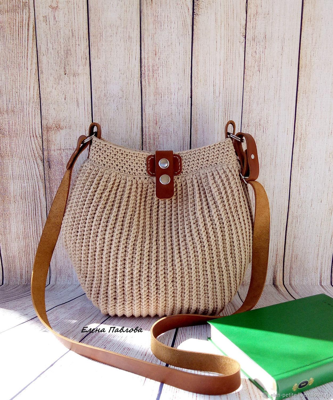 Handbags Handmade Livemaster Knitted Handbag Beige Bag Summer