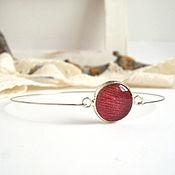 Украшения handmade. Livemaster - original item Bracelet made of Resin with Real Petal of a Red Tulip Eco Boho. Handmade.