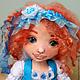 Коллекционные куклы ручной работы. Ярмарка Мастеров - ручная работа. Купить Алиса. Текстильная игровая кукла... Handmade. Тёмно-бирюзовый