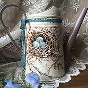 """Цветы и флористика ручной работы. Ярмарка Мастеров - ручная работа Лейка """"семейное гнёздышко"""". Handmade."""