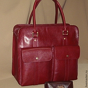 Сумки и аксессуары handmade. Livemaster - original item bag. Large Burgundy. Genuine leather.. Handmade.