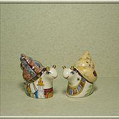 """Посуда ручной работы. Ярмарка Мастеров - ручная работа Набор для специй  """"Улитки-золотые рожки"""". Handmade."""