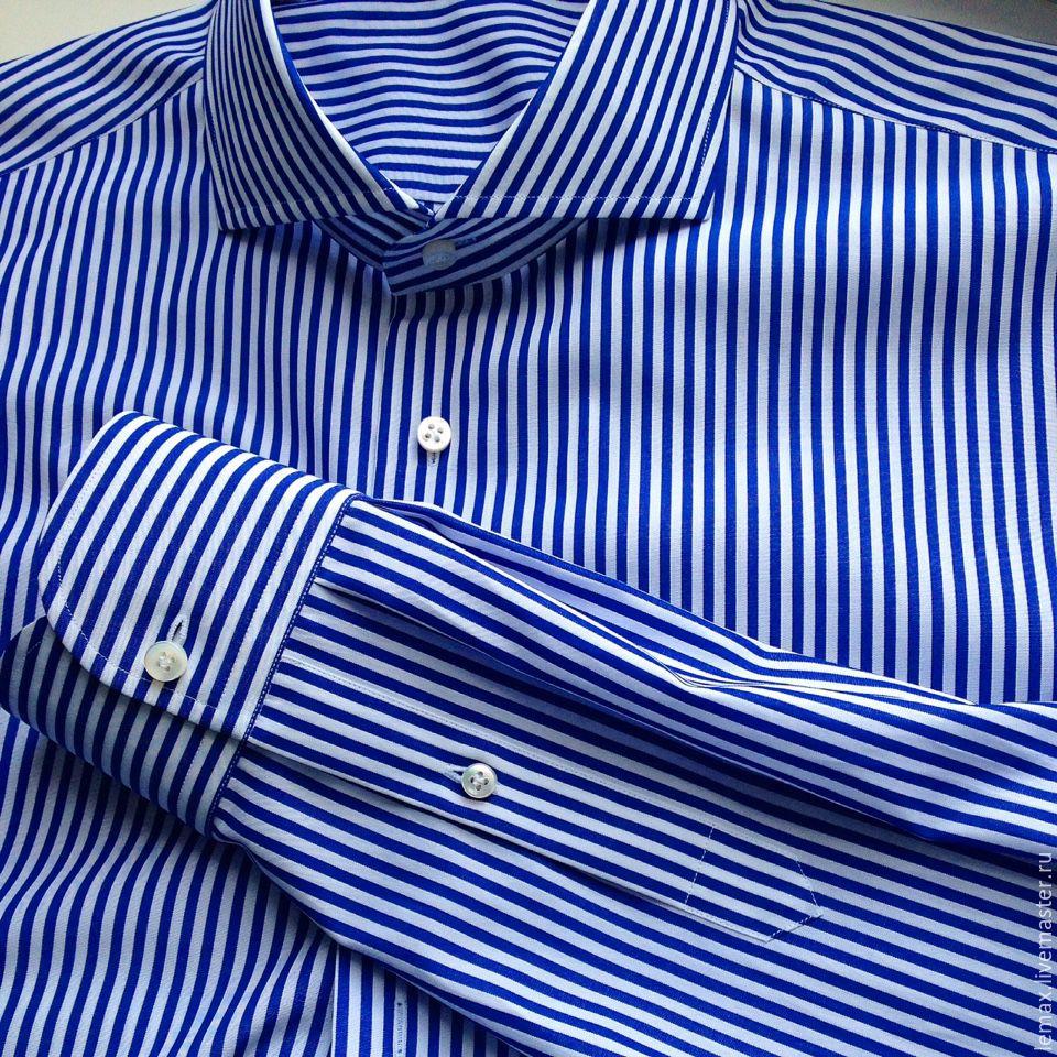d84c09dcbe8 ручной работы. Ярмарка Мастеров - ручная работа. Купить Мужская рубашка в  полоску.