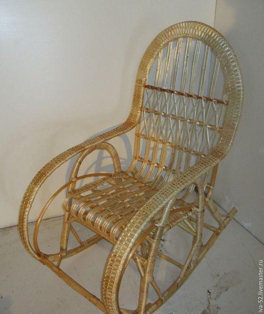 """Мебель ручной работы. Ярмарка Мастеров - ручная работа. Купить Кресло качалка """"Добрыня"""", плетеное из лозы. Handmade. Плетеная мебель"""