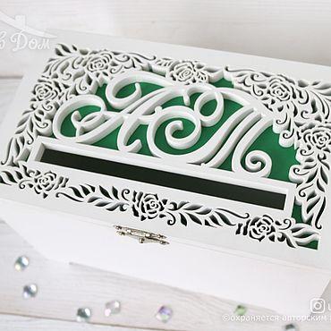 Свадебный салон ручной работы. Ярмарка Мастеров - ручная работа Казна деревянная свадебная с розами для денег. Handmade.