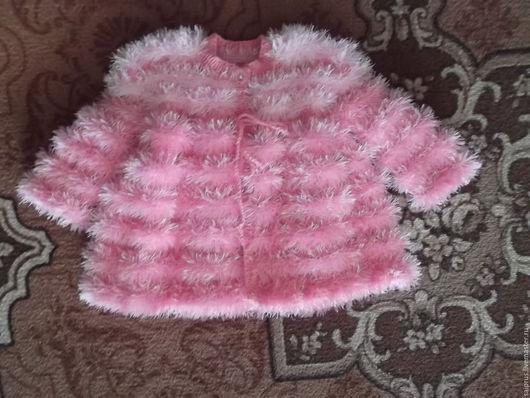 Одежда для девочек, ручной работы. Ярмарка Мастеров - ручная работа. Купить Вязаное пальтишко на малышку. Handmade. Розовый, для девочки