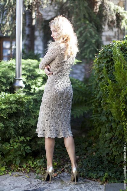 "Платья ручной работы. платье ""Барокко"". Jannetta knits  Luxury handmade. Ярмарка Мастеров. Вязаное платье, шелк"