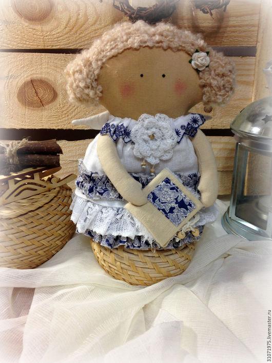 """Куклы Тильды ручной работы. Ярмарка Мастеров - ручная работа. Купить Ангелочек """"Я подарю тебе  сказку..."""". Handmade."""