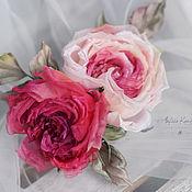 Украшения ручной работы. Ярмарка Мастеров - ручная работа Свадебный гребень для волос с розами. Handmade.