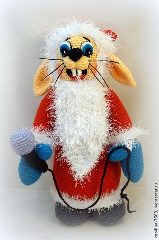 """Сказочные персонажи ручной работы. Ярмарка Мастеров - ручная работа. Купить Заяц из """"Ну, погоди!"""". Handmade. Ярко-красный, игрушки"""