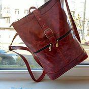 Сумки и аксессуары handmade. Livemaster - original item Backpacks: Backpack leather womens. Handmade.