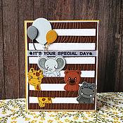 Открытки handmade. Livemaster - original item !The handmade card,happy birthday) stills, Animals. Handmade.