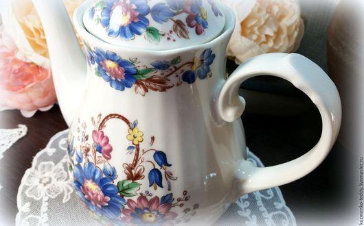 Винтажная посуда. Ярмарка Мастеров - ручная работа. Купить Чайник/кофейник Eschenbach Ceranova, Германия. Handmade. Разноцветный, синий