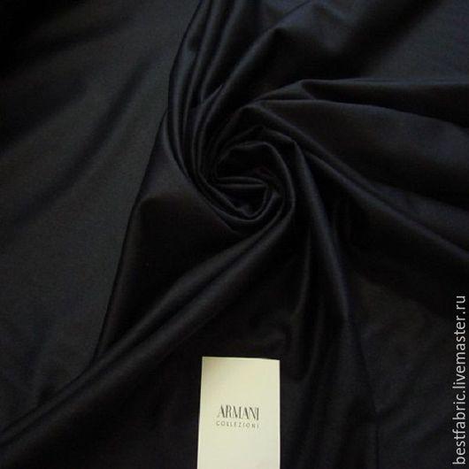 костюмно-пальтовая сток ARMANI кашемир 70% + шелк 30% шир. 157 см цена 3850 р цвет т/синий , типа фланели, средней толщины, шелковистая, нежная , не мнется, подойдет в т.ч. и для легкого пальто