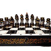 Сувениры и подарки ручной работы. Ярмарка Мастеров - ручная работа Роспись по дереву шахматы подарочные Чёрная королева. Handmade.