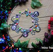 Украшения handmade. Livemaster - original item Gravity falls bracelet, Gravity Falls with diary pendants. Handmade.