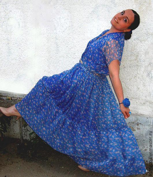 """Платья ручной работы. Ярмарка Мастеров - ручная работа. Купить Платье летнее в пол """"Нежность"""" реплика DG. Handmade."""