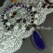 Украшения handmade. Livemaster - original item Necklace with slice of agate