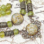 Украшения handmade. Livemaster - original item Oriental love - set - earrings, bracelet and necklace lampwork. Handmade.