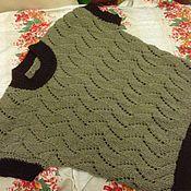 Одежда ручной работы. Ярмарка Мастеров - ручная работа женский жилет вязаный. Handmade.