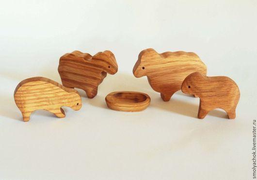 Развивающие игрушки ручной работы. Ярмарка Мастеров - ручная работа. Купить Семейка овечек. Набор для игры. Деревянные развивающие игрушки.. Handmade.