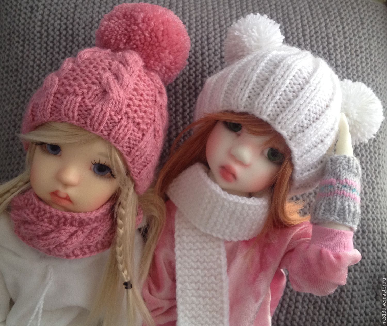 Как связать шарф и шапку кукле
