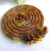 Украшения handmade. Livemaster - original item Lariat necklace harness beaded