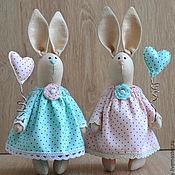 Куклы и игрушки ручной работы. Ярмарка Мастеров - ручная работа Зайки-подружки. Handmade.