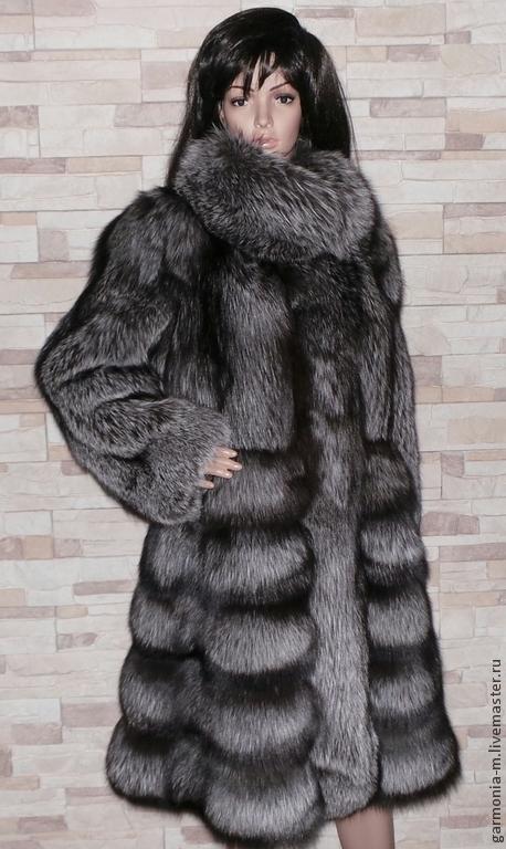 Верхняя одежда ручной работы. Ярмарка Мастеров - ручная работа. Купить Шубка Чернобурка-Ф. Handmade. В полоску, шуба