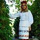 """Юбки ручной работы. Ярмарка Мастеров - ручная работа. Купить Вышитая женская юбка """"Лето в белом"""" ручная вышивка. Handmade."""