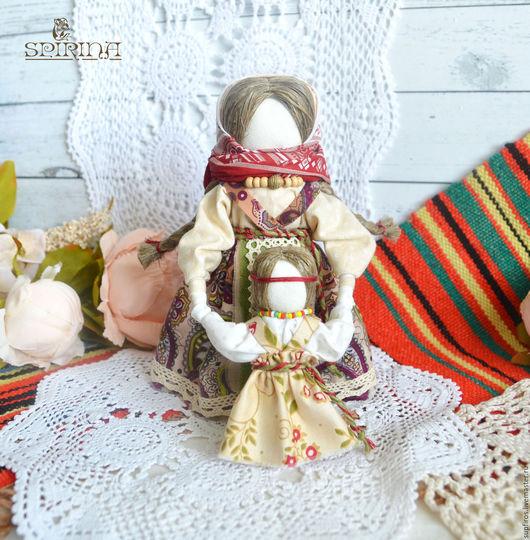 Народные куклы ручной работы. Ярмарка Мастеров - ручная работа. Купить Народная кукла Ведучка. Handmade. Коричневый, мама и дочка