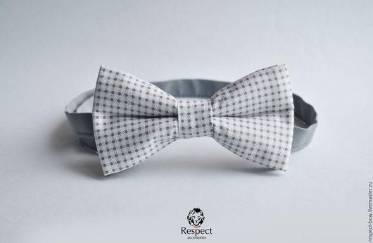 Галстуки, бабочки ручной работы. Ярмарка Мастеров - ручная работа. Купить Галстук бабочка Шарм / белая бабочка галстук в серую клетку купить. Handmade.