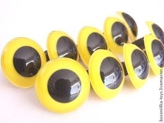 """Куклы и игрушки ручной работы. Ярмарка Мастеров - ручная работа. Купить 18мм Глаза для игрушек (желтые) 2шт. """"6044"""". Handmade."""