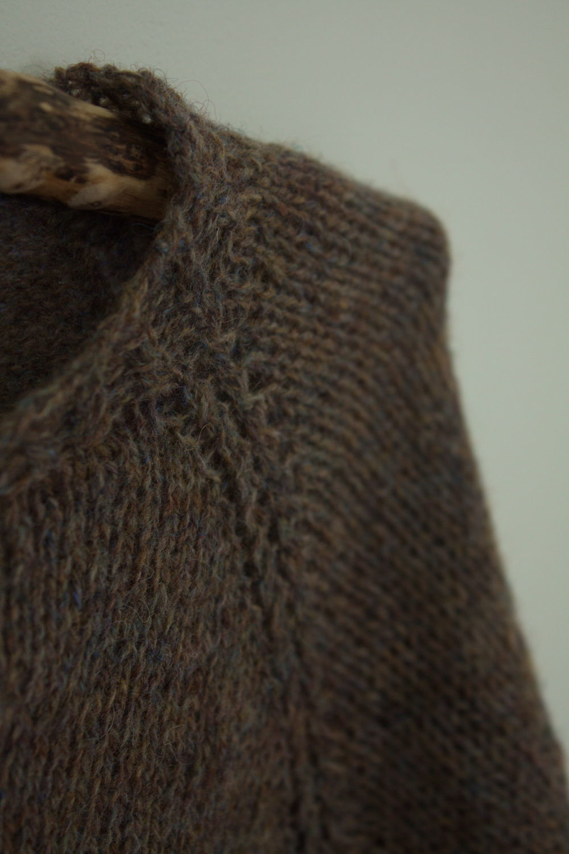 Brown jacket with buttons 'Truffle' Irish yarn, Cardigans, Saratov,  Фото №1