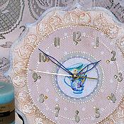 """Для дома и интерьера ручной работы. Ярмарка Мастеров - ручная работа Часы """"Зефирная нежность"""". Handmade."""