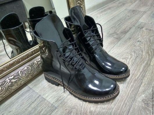 Обувь ручной работы. Ярмарка Мастеров - ручная работа. Купить Женские ботинки в стиле гранж Anna Chaqrua. Handmade. Черный