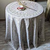 Для дома и интерьера handmade. Livemaster - original item Tablecloth linen 100% rice. Cucumbers d. .220 cm.. Handmade.