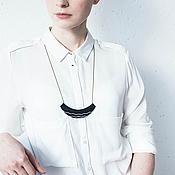 Украшения ручной работы. Ярмарка Мастеров - ручная работа Бело - черный кулон. Handmade.