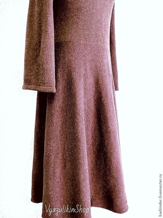 """Платья ручной работы. Ярмарка Мастеров - ручная работа. Купить Вязаное платье """"Горький шоколад"""". Handmade. Коричневый, женское платье"""