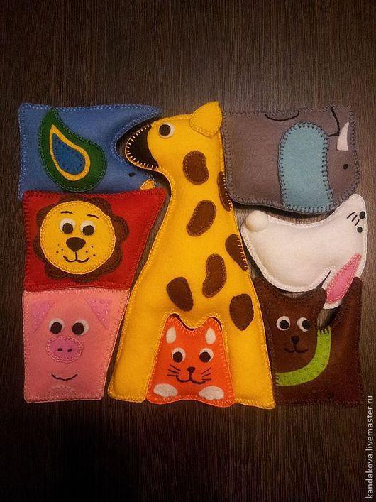 """Развивающие игрушки ручной работы. Ярмарка Мастеров - ручная работа. Купить Пазл """"Зоопарк"""" из фетра. Handmade. Пазл, развивающие игры"""