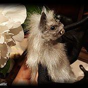 Куклы и игрушки handmade. Livemaster - original item Grey Vampire Bat mobile sculpture. Handmade.