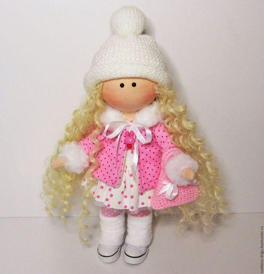 Коллекционные куклы ручной работы. Ярмарка Мастеров - ручная работа. Купить Куколка Софи. Handmade. Розовый, куколка, текстильная игрушка